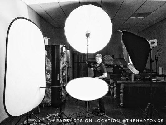 photo studio set up on location